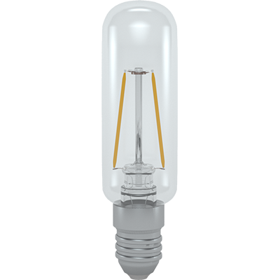 LED CU FILAMENT T25 STICL? TRANSPARENT? E14 2W 3000K